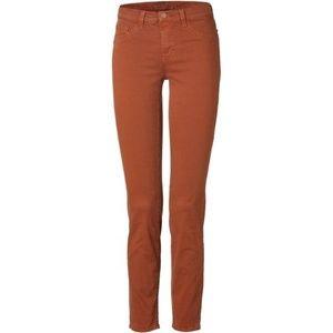 J Brand 811 Mid-Rise Skinny Twill Jeans, Terra Cot